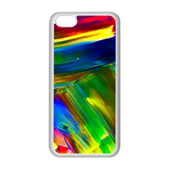 Abstract Acryl Art Apple Iphone 5c Seamless Case (white)