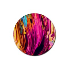 Abstract Acryl Art Rubber Coaster (round)