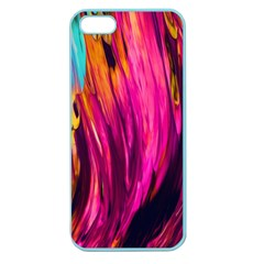 Abstract Acryl Art Apple Seamless Iphone 5 Case (color)