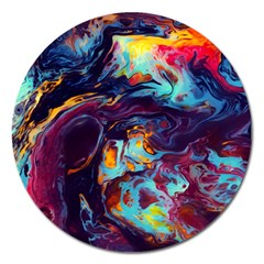 Abstract Acryl Art Magnet 5  (round)