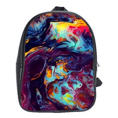 Abstract Acryl Art School Bag (large)