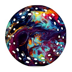 Abstract Acryl Art Round Filigree Ornament (two Sides)
