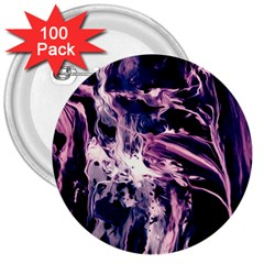 Abstract Acryl Art 3  Buttons (100 Pack)