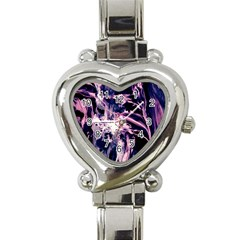 Abstract Acryl Art Heart Italian Charm Watch