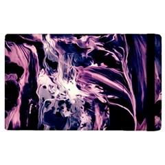 Abstract Acryl Art Apple Ipad 3/4 Flip Case