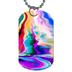 Abstract Acryl Art Dog Tag (one Side)