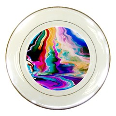 Abstract Acryl Art Porcelain Plates