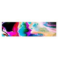 Abstract Acryl Art Satin Scarf (oblong)