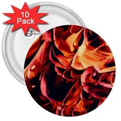 Abstract Acryl Art 3  Buttons (10 Pack)