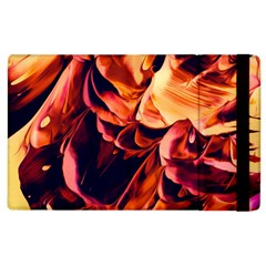 Abstract Acryl Art Apple Ipad 2 Flip Case