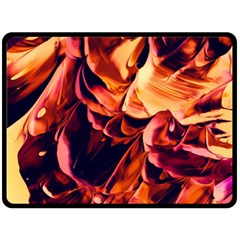 Abstract Acryl Art Double Sided Fleece Blanket (large)