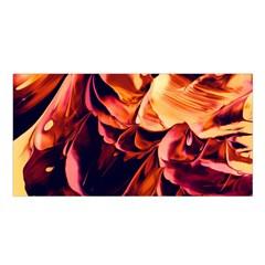 Abstract Acryl Art Satin Shawl