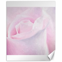 Rose Pink Flower, Floral Aquarel   Watercolor Painting Art Canvas 16  X 20