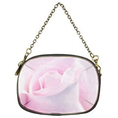 Rose Pink Flower, Floral Aquarel   Watercolor Painting Art Chain Purses (one Side)