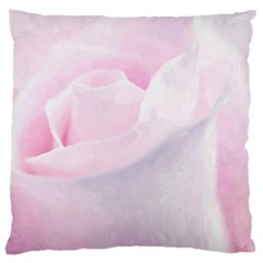 Rose Pink Flower, Floral Aquarel   Watercolor Painting Art Large Cushion Case (two Sides)