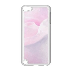 Rose Pink Flower, Floral Aquarel   Watercolor Painting Art Apple Ipod Touch 5 Case (white)