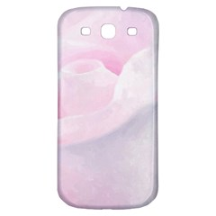 Rose Pink Flower, Floral Aquarel   Watercolor Painting Art Samsung Galaxy S3 S Iii Classic Hardshell Back Case