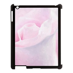 Rose Pink Flower, Floral Aquarel   Watercolor Painting Art Apple Ipad 3/4 Case (black)