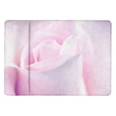 Rose Pink Flower, Floral Aquarel   Watercolor Painting Art Samsung Galaxy Tab 10 1  P7500 Flip Case