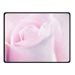 Rose Pink Flower, Floral Aquarel   Watercolor Painting Art Double Sided Fleece Blanket (small)