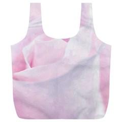 Rose Pink Flower, Floral Aquarel   Watercolor Painting Art Full Print Recycle Bags (l)