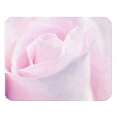 Rose Pink Flower, Floral Aquarel   Watercolor Painting Art Double Sided Flano Blanket (large)