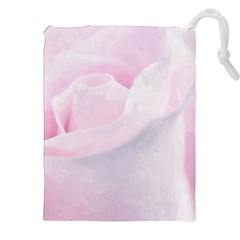 Rose Pink Flower, Floral Aquarel   Watercolor Painting Art Drawstring Pouches (xxl)