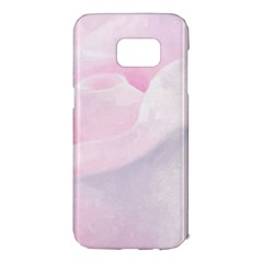 Rose Pink Flower, Floral Aquarel   Watercolor Painting Art Samsung Galaxy S7 Edge Hardshell Case