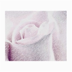 Rose Pink Flower  Floral Pencil Drawing Art Small Glasses Cloth