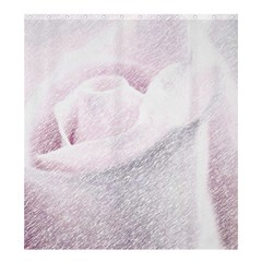 Rose Pink Flower  Floral Pencil Drawing Art Shower Curtain 66  X 72  (large)