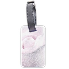 Rose Pink Flower  Floral Pencil Drawing Art Luggage Tags (one Side)