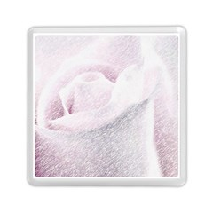 Rose Pink Flower  Floral Pencil Drawing Art Memory Card Reader (square)