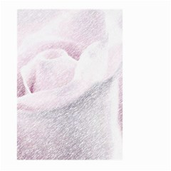 Rose Pink Flower  Floral Pencil Drawing Art Large Garden Flag (two Sides)