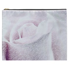 Rose Pink Flower  Floral Pencil Drawing Art Cosmetic Bag (xxxl)