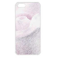 Rose Pink Flower  Floral Pencil Drawing Art Apple Iphone 5 Seamless Case (white)