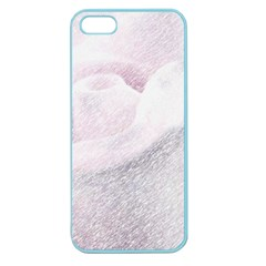Rose Pink Flower  Floral Pencil Drawing Art Apple Seamless Iphone 5 Case (color)