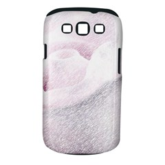 Rose Pink Flower  Floral Pencil Drawing Art Samsung Galaxy S Iii Classic Hardshell Case (pc+silicone)