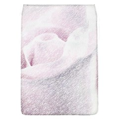 Rose Pink Flower  Floral Pencil Drawing Art Flap Covers (l)