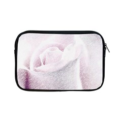 Rose Pink Flower  Floral Pencil Drawing Art Apple Ipad Mini Zipper Cases
