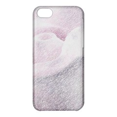Rose Pink Flower  Floral Pencil Drawing Art Apple Iphone 5c Hardshell Case