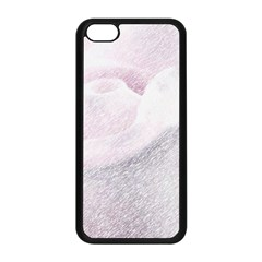 Rose Pink Flower  Floral Pencil Drawing Art Apple Iphone 5c Seamless Case (black)