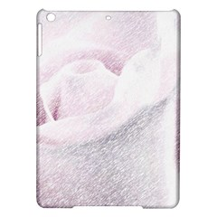 Rose Pink Flower  Floral Pencil Drawing Art Ipad Air Hardshell Cases