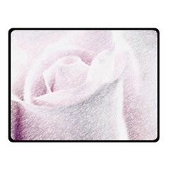 Rose Pink Flower  Floral Pencil Drawing Art Double Sided Fleece Blanket (small)