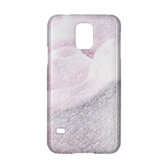 Rose Pink Flower  Floral Pencil Drawing Art Samsung Galaxy S5 Hardshell Case