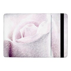 Rose Pink Flower  Floral Pencil Drawing Art Samsung Galaxy Tab Pro 10 1  Flip Case
