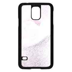 Rose Pink Flower  Floral Pencil Drawing Art Samsung Galaxy S5 Case (black)