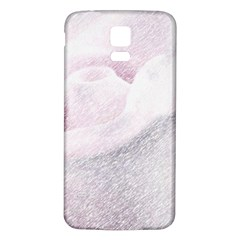 Rose Pink Flower  Floral Pencil Drawing Art Samsung Galaxy S5 Back Case (white)