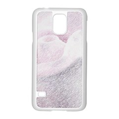 Rose Pink Flower  Floral Pencil Drawing Art Samsung Galaxy S5 Case (white)