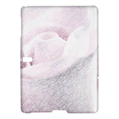 Rose Pink Flower  Floral Pencil Drawing Art Samsung Galaxy Tab S (10 5 ) Hardshell Case
