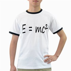 E=mc2 Gravity Formula Physics Ringer T Shirts